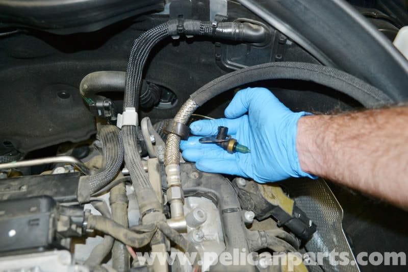 Mercedes Benz W204 Coolant Temperature Sensor Replacement