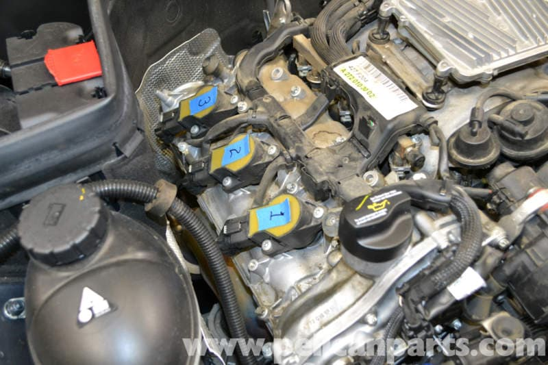Mercedes benz w204 spark plugs and coils replacement for Mercedes benz c300 engine