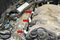 Once the injectors are removed there is an open hole into the intake manifold and then the combustion chamber.