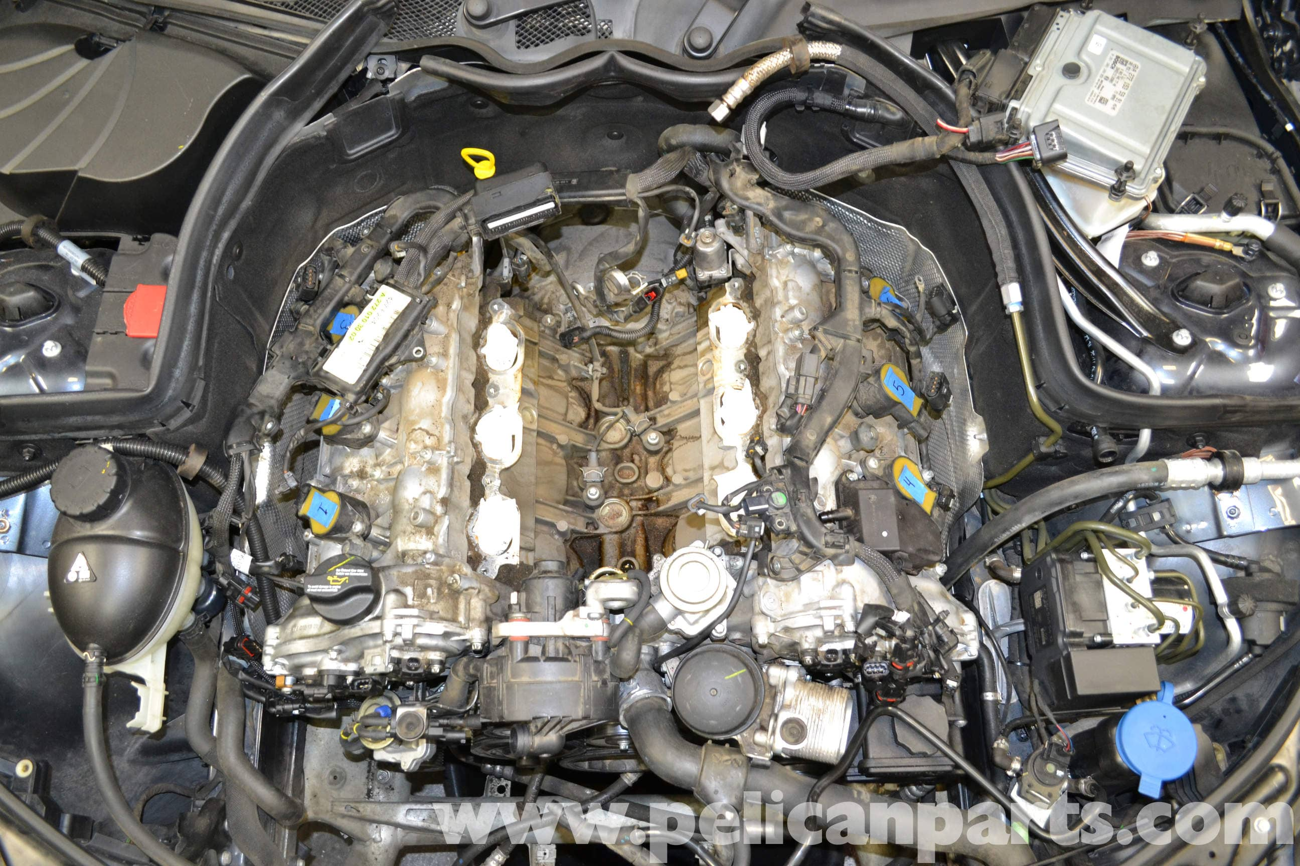 Mercedes benz w204 knock sensors replacement 2008 2014 for Mercedes benz c300 engine