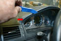 The procedures are the same for both sides with the exception being you need to pull the gauge cluster trim piece out on the driver side.