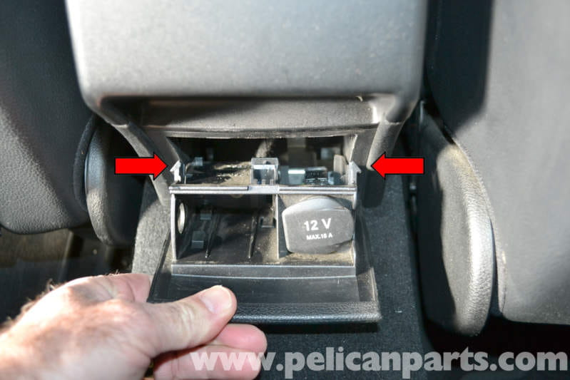 Mercedes Benz W204 Rear Console Vent Ashtray Removal And