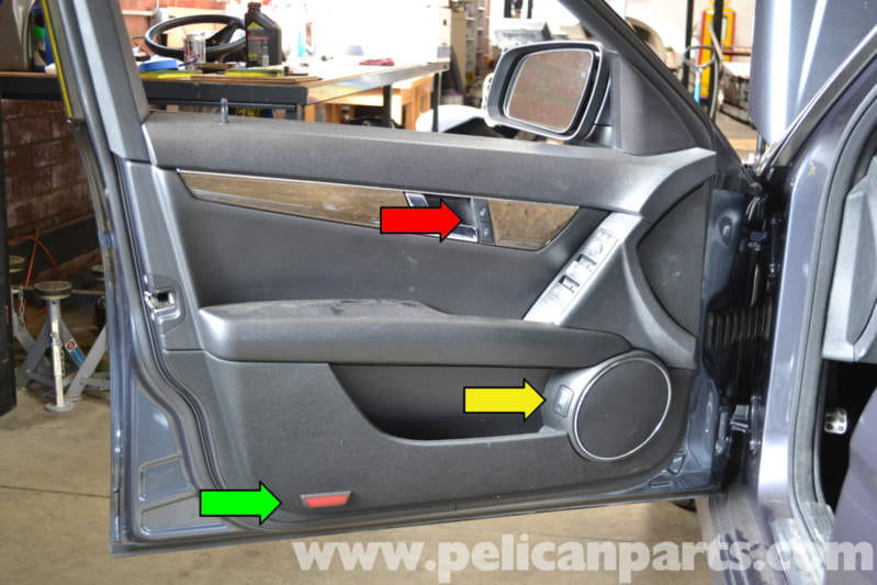 Mercedes Benz W204 Door Panel Light And Switch Replacement