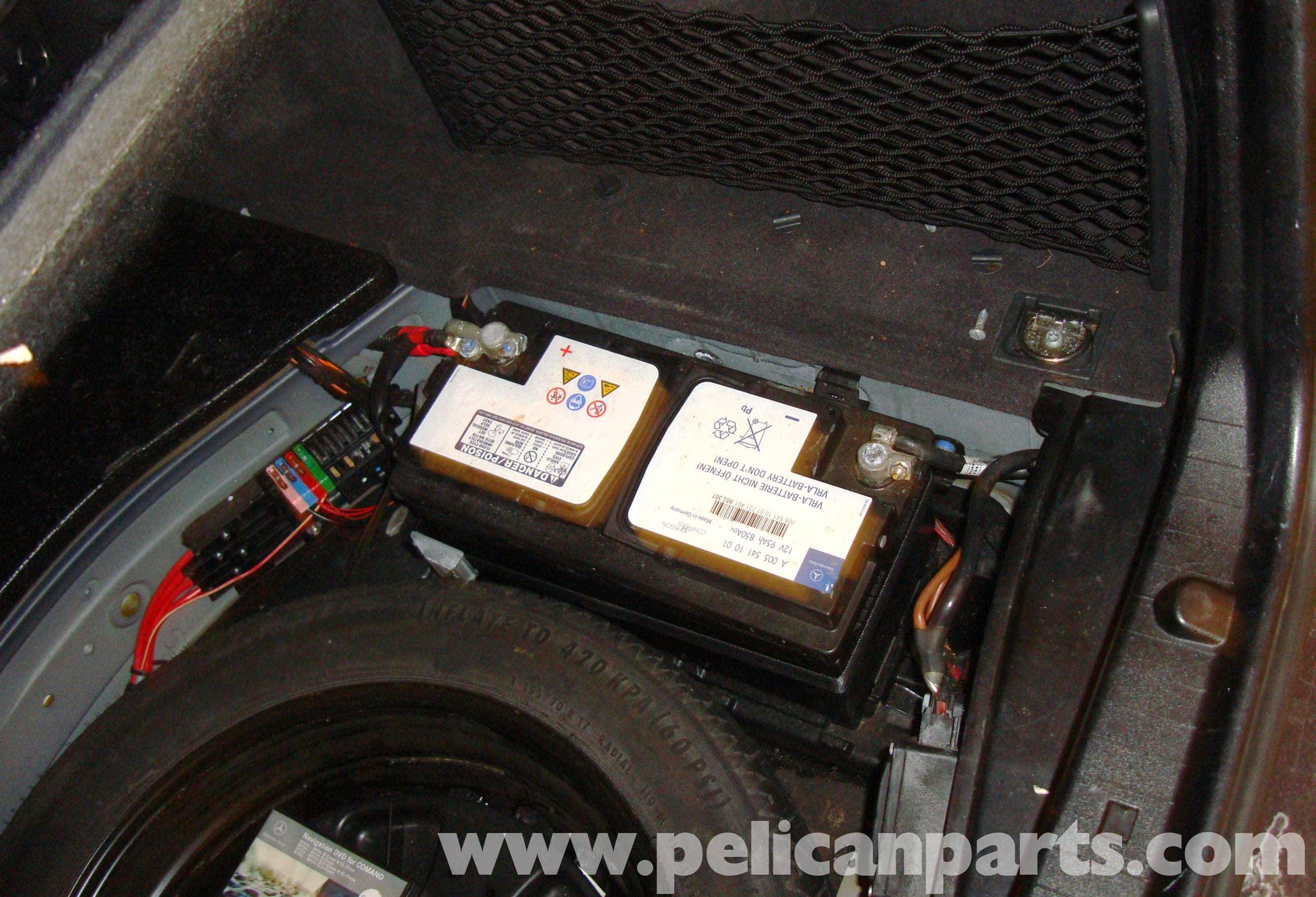 mercedes-benz w211 battery removal (2003-2009) e320, e500, e55