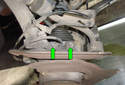 Front Wheel Speed Sensor ThisPicture illustrates the left side front hub with the wheel removed.
