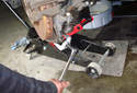 This photo shows a third style of ball joint press.