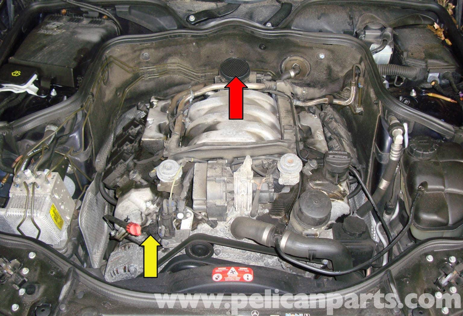 mercedes w211 engine management systems 2003 2009 e320 pelican parts diy maintenance