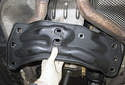Remove the transmission-mounting bracket from the vehicle.