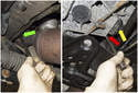 Move to the left side of the engine, remove the same 13mm fasteners you did on the right side.