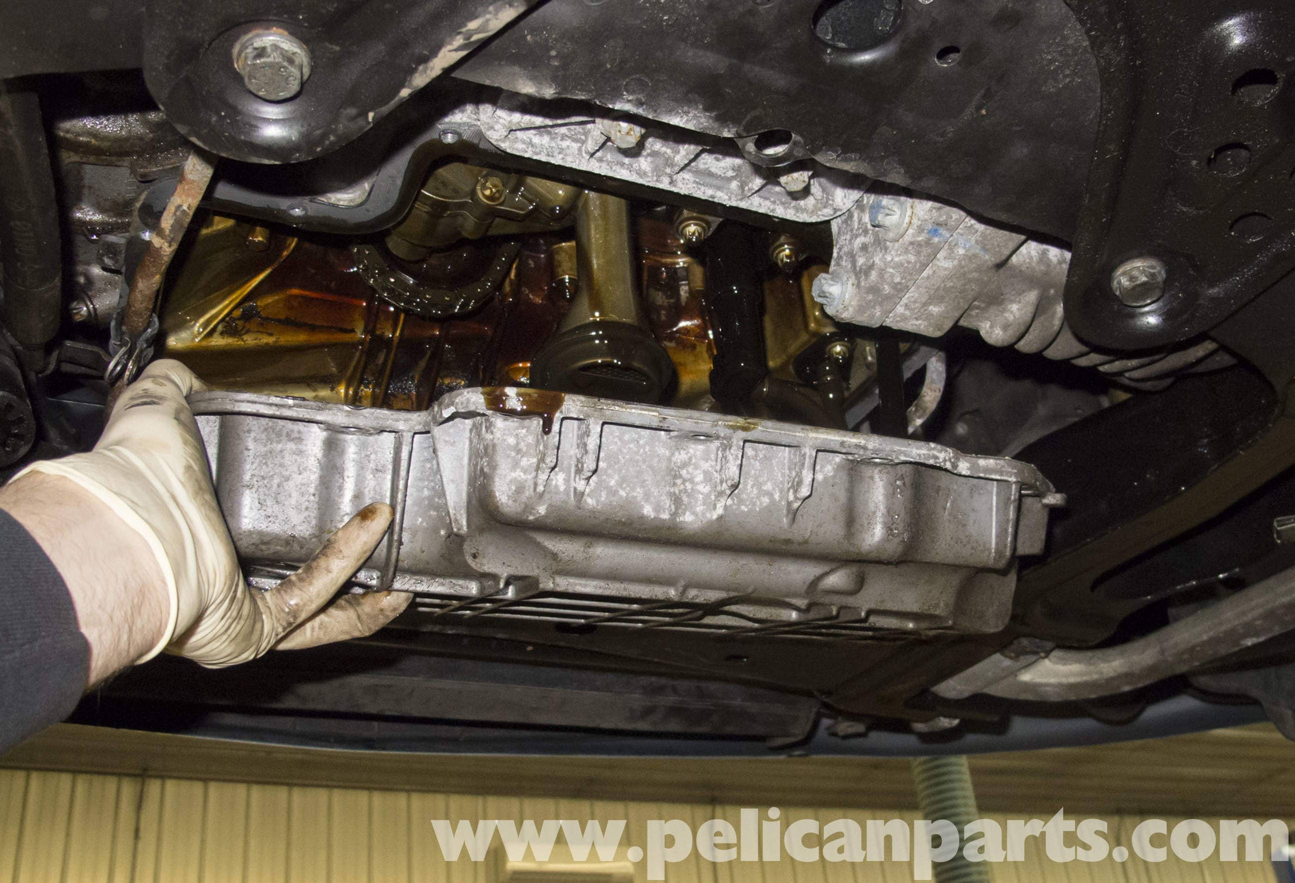 Mercedes benz w211 oil pan gasket replacement 2003 2009 for Where can i drop off used motor oil
