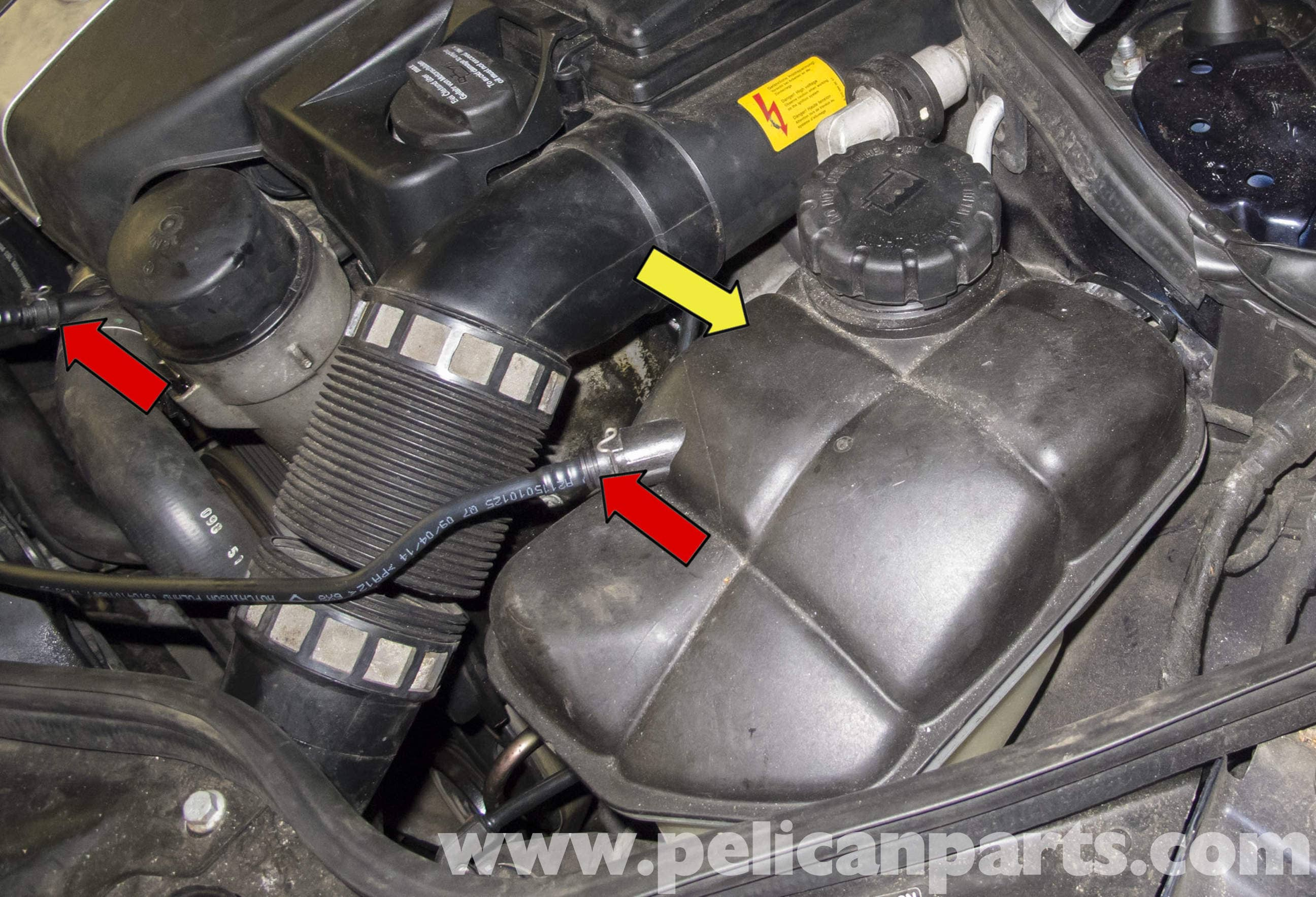 Mercedes benz w211 cooling system leak test 2003 2009 for Mercedes benz coolant