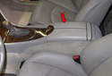 This tech article shows you how to replace the center console (red arrow).