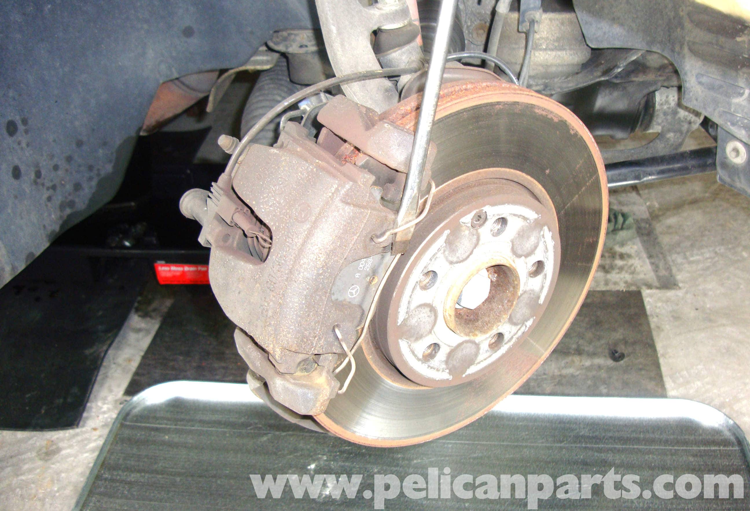 Mercedes benz w211 brake pad replacement 2003 2009 e320 for Mercedes benz rotors and pads