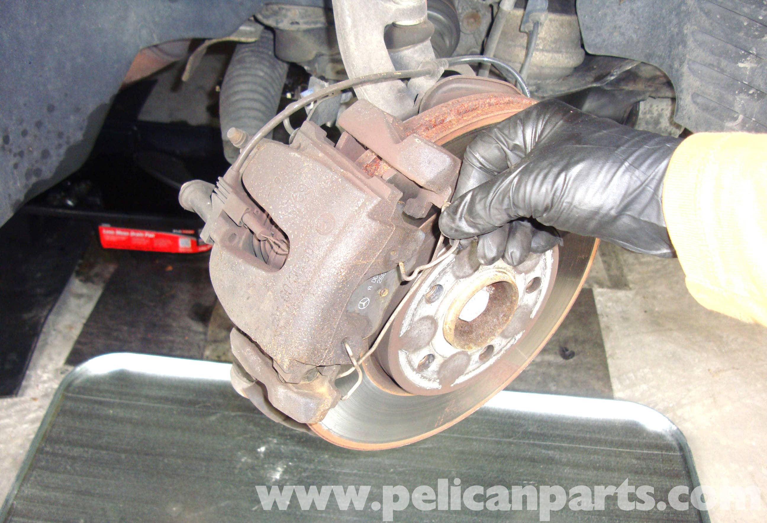 Brake Pad Replacement : Mercedes benz w brake pad replacement e
