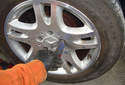 Certain Mercedes Benz rims do not allow you to swing the flat head screwdriver back and forth to make the adjustment.