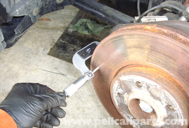 Minimum Thickness For Brake Pads : Mercedes benz w checking brake rotor thickness