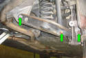 Next you have to remove the three fasteners (green arrows), see the following steps.