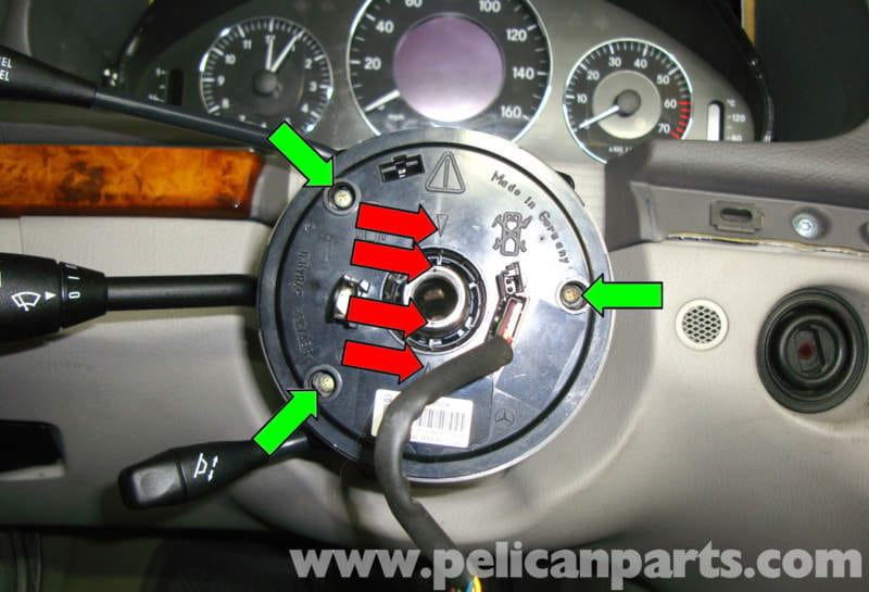 Mercedes Benz W211 Steering Wheel Removal 2003 2009 E320