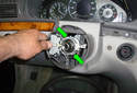 Remove the turn signal switch by pulling it away from the steering column.