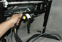 Remember the position of the wiring as you remove it from the power seat assembly.