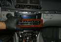 Pull out the switch center control unit/CD changer to expose the electrical connector.