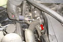 This picture illustrates the radiator side of the upper radiator hose.