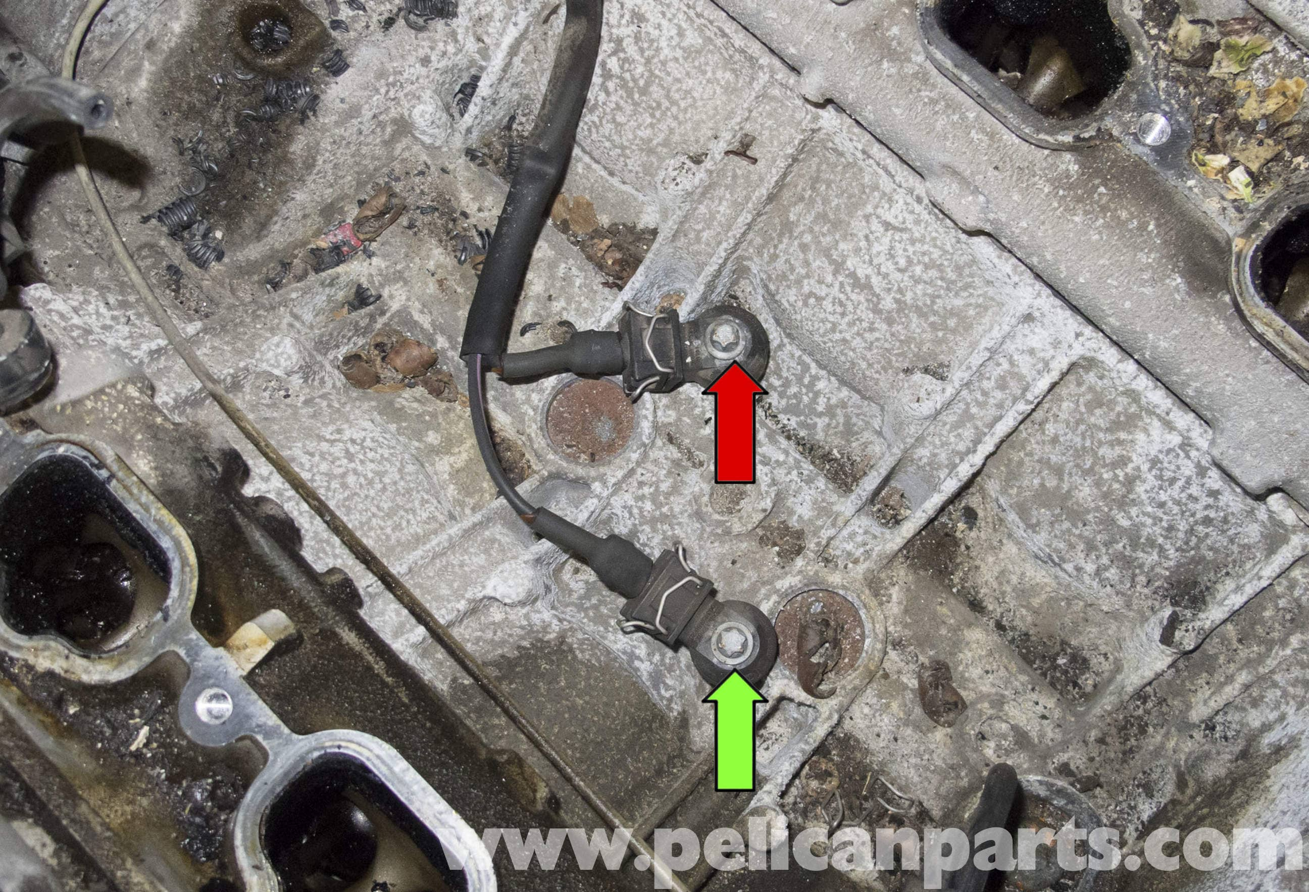 Mercedes Benz W211 Knock Sensor Testing And Replacement 2003 2009 E320 Pelican Parts Diy