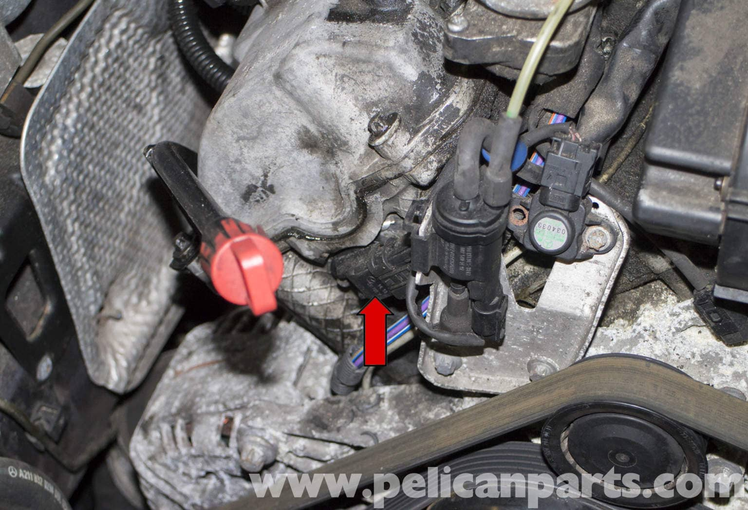 W211 Camshaft Position Sensor >> Mercedes-Benz W211 Camshaft Position Sensor Replacement (2003-2009) E320 | Pelican Parts DIY ...