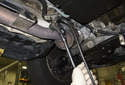 Replacing sensors after catalytic converter: Remove the oxygen sensor from the exhaust.