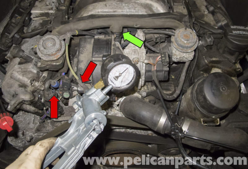 Mercedes benz w211 secondary air system component testing for Mercedes benz secondary air pump