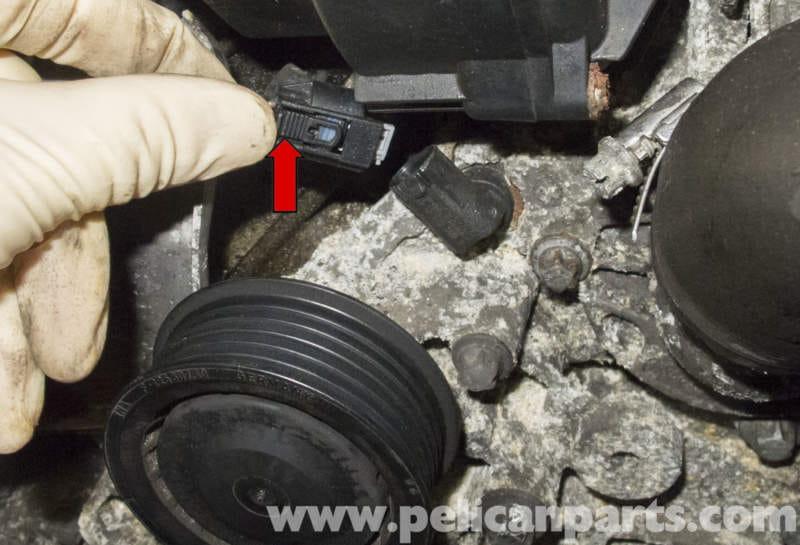 Mercedes-Benz W211 Coolant Temperature Sensor Replacement (2003-2009) E320   Pelican Parts DIY ...