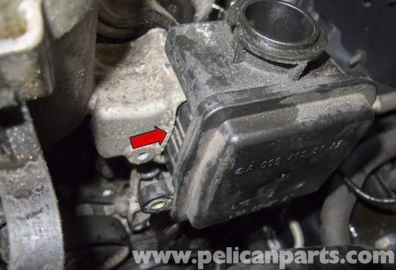 Mercedes Benz W211 Power Steering Pump Replacement 2003