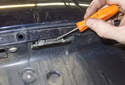 License Plate Bulbs and Lens: To replace the socket, lever the socket out of the trunk using a small flathead screwdriver.