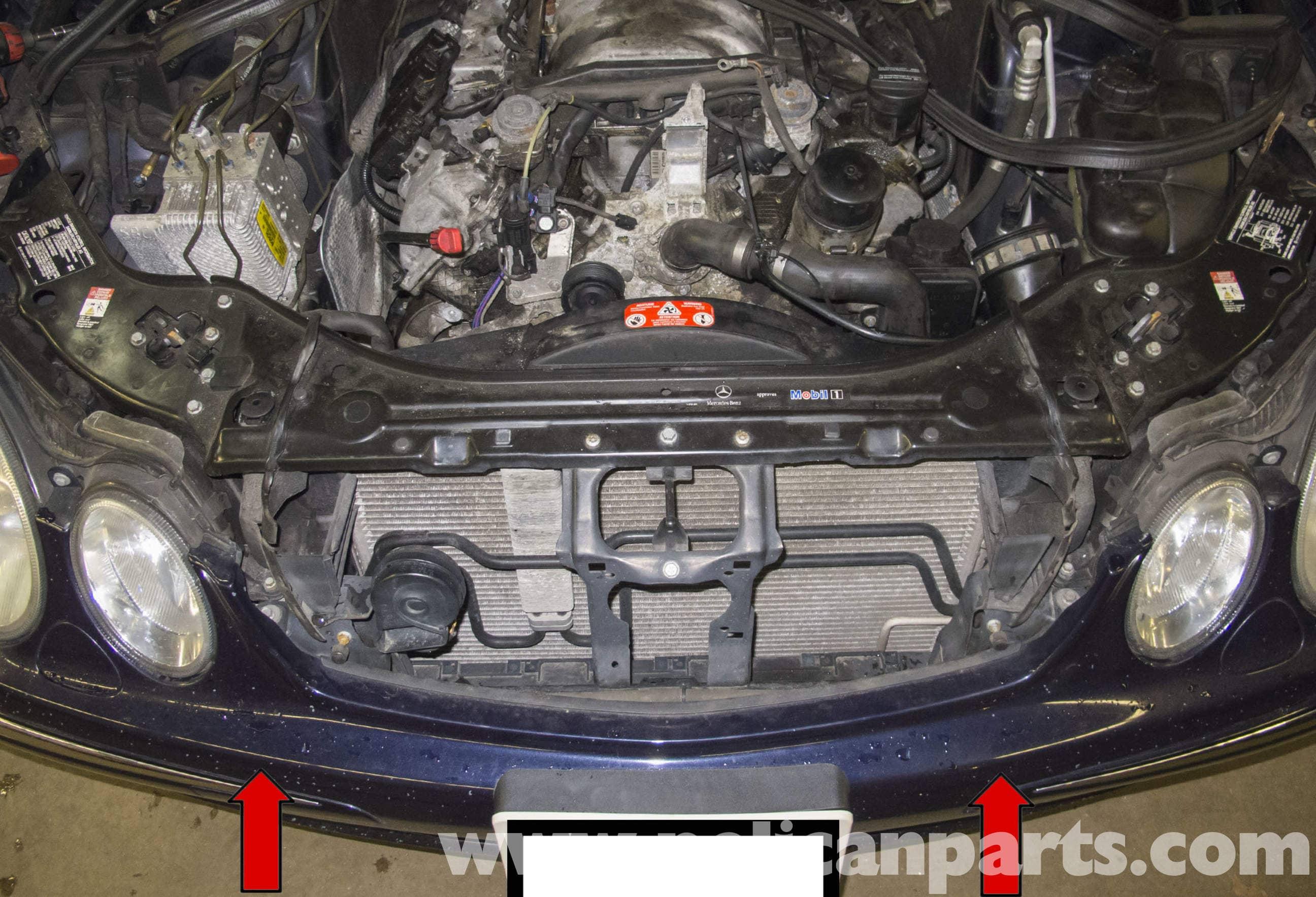 Mercedes-Benz W211 Front Bumper Replacement (2003-2009 ...