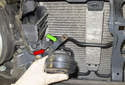 High tone: Once the fastener is removed, remove the horn from the vehicle.