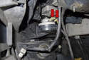 Low tone: Start by removing the front section of the left side wheel well liner.