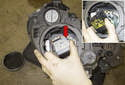 Low (Xenon) beam bulb: Rotate the high beam bulb holder 30° and remove it from the headlight.