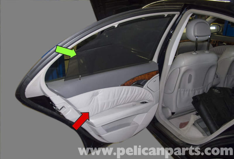 Mercedes benz w211 rear door panel replacement 2003 2009 e320 e500 e55 pelican parts diy for Mercedes benz replacement parts for the interior