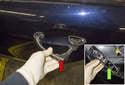Remove the exterior door handle and release bracket.