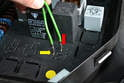 For testing purposes use your 15 amp fused jumper wire and install the leads in terminals 30 (red arrow) and 87b (yellow arrow).