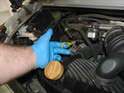 Pull your dipstick and check to make sure you have ample oil in your engine sump (Picture 2005: only).