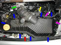 The air filter is quite easy to get to on the 996 Carrera.
