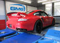 This photo shows a Porsche GT2RS that has been modified by Global Motorsports Group.