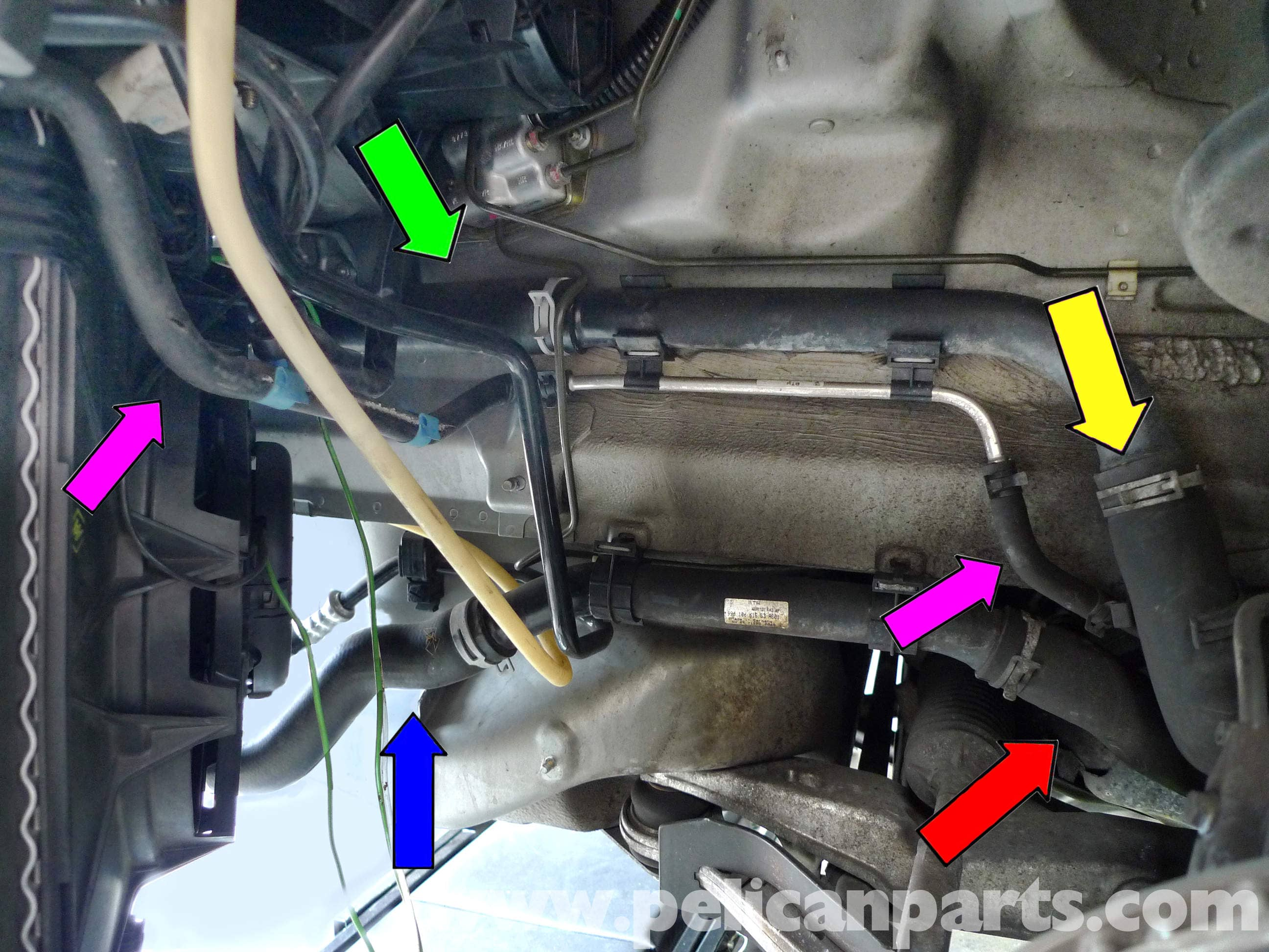 Porsche 911 Carrera Coolant Hose Replacement 996 1998