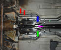 Rear Hoses 996 Coolant line to upper right side o