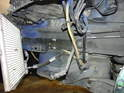 Here is a shot of the radiator area after the radiator has been removed.