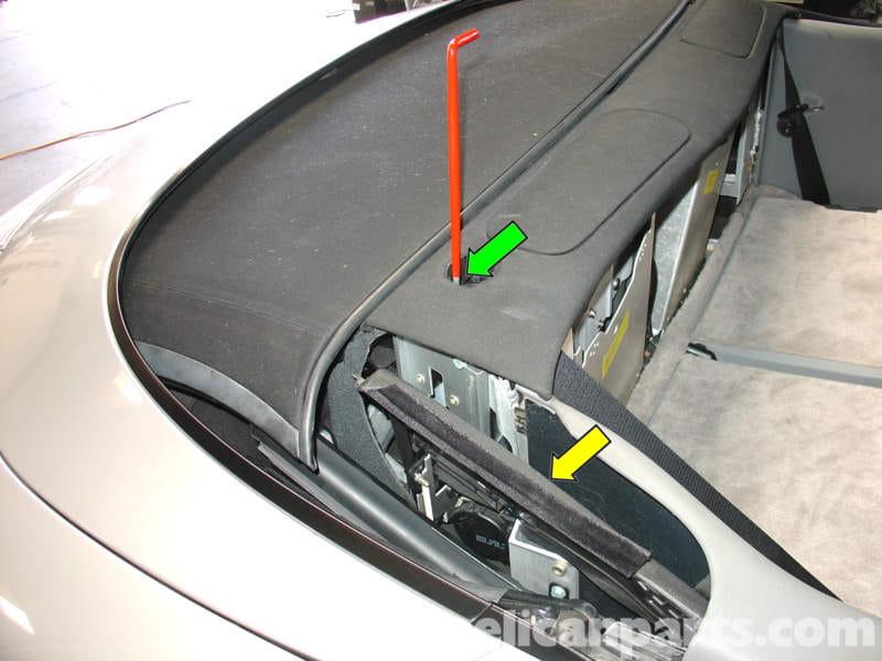 Porsche 911 Carrera Convertible Top Mechanism Repair 996