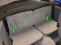 Access the manual over-ride for the top requires removal of the panel directly behind the upper rear seats.