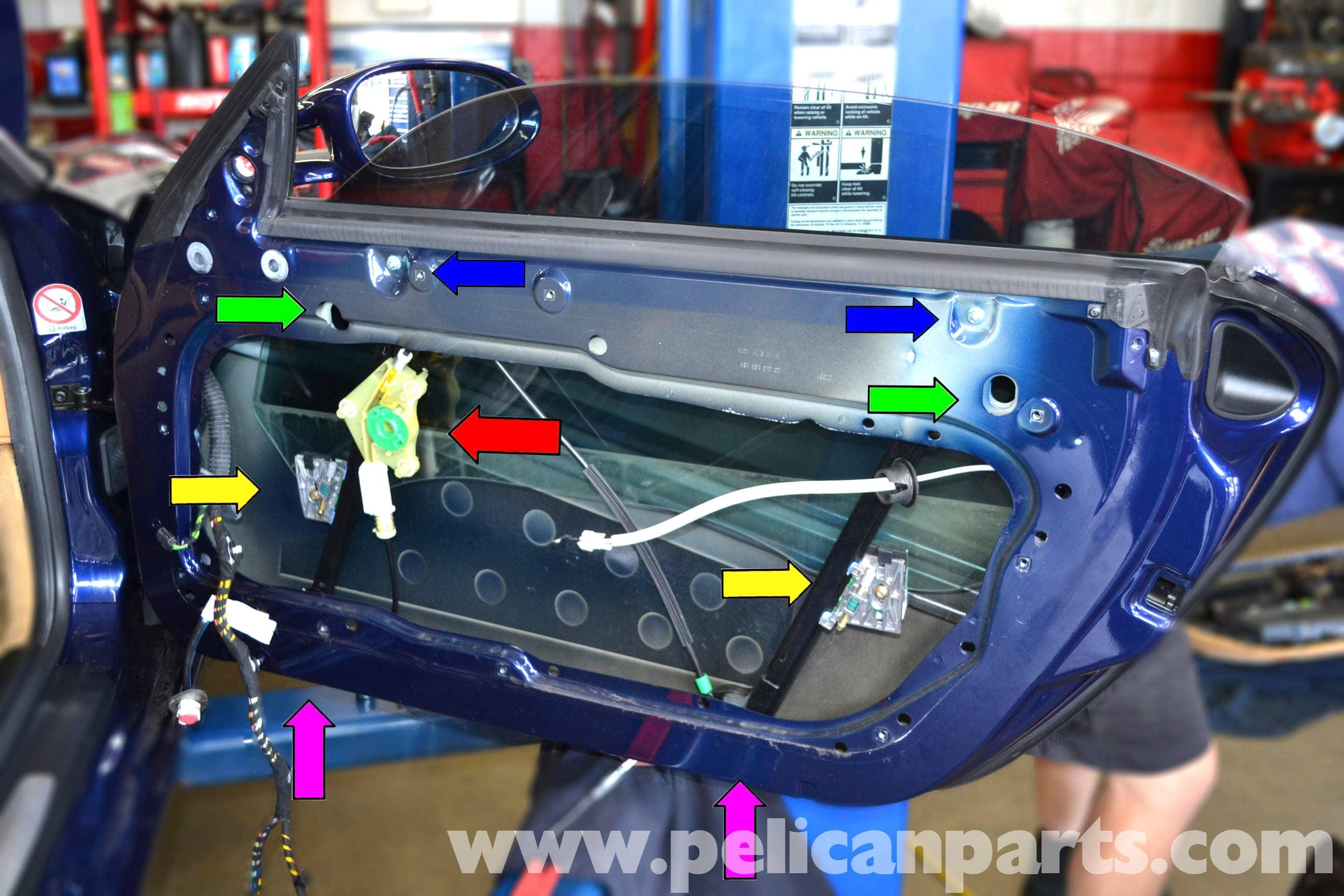 Porsche 911 carrera window regulator and motor replacement for 1999 porsche boxster window regulator