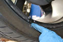 While you have the vehicle in the air it is a really good time to inspect the condition of the wheels.
